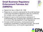 small business regulatory enforcement fairness act sbrefa