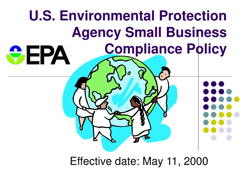 u s environmental protection agency small business compliance policy l.