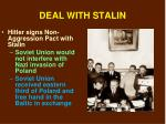 deal with stalin