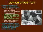 munich crisis 1931