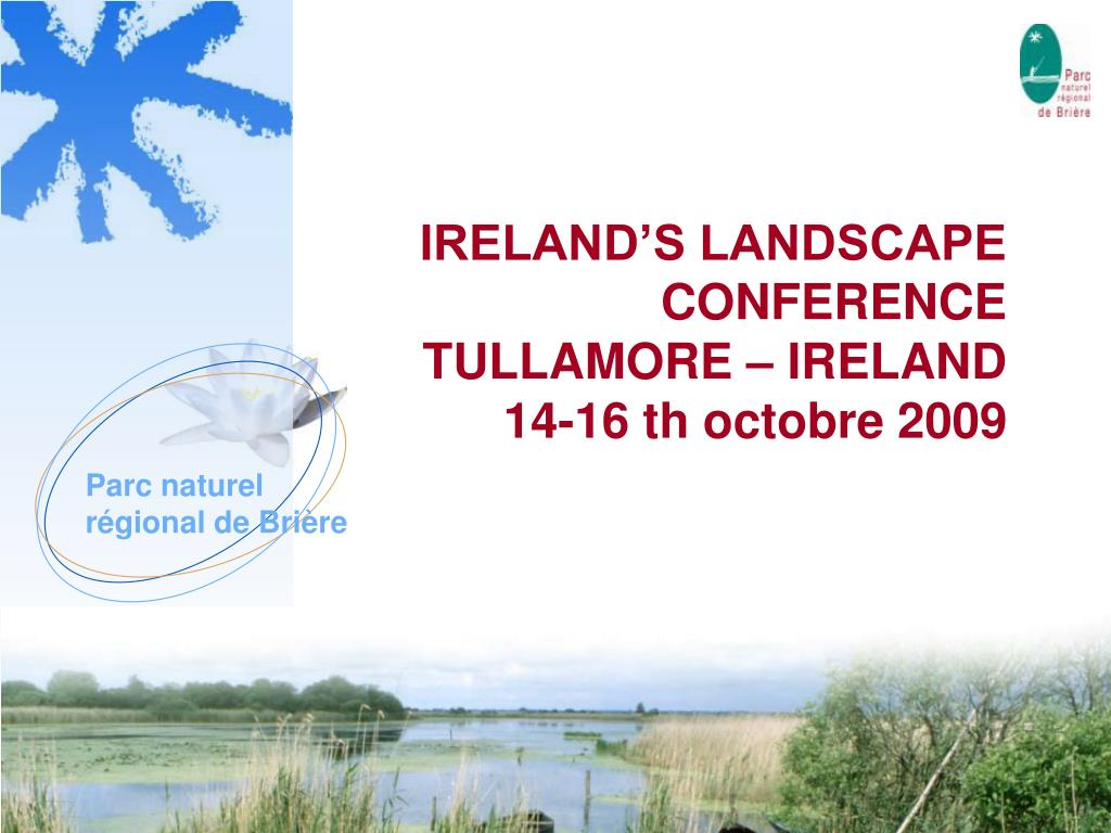 ireland s landscape conference tullamore ireland 14 16 th octobre 2009 l.