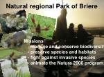 natural regional park of briere