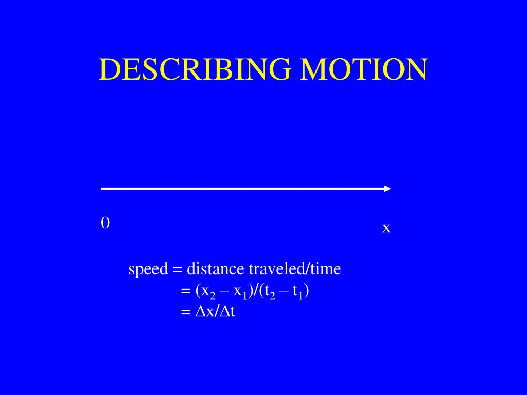 describing motion l.