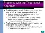 problems with the theoretical approach
