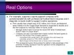 real options9