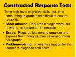 constructed response tests