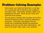 problem solving examples
