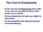 the cost of discipleship17