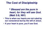 the cost of discipleship22