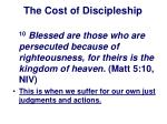 the cost of discipleship23