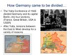 how germany came to be divided