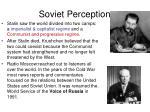 soviet perception
