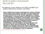 what is early childhood inclusion