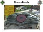 clearing barrels