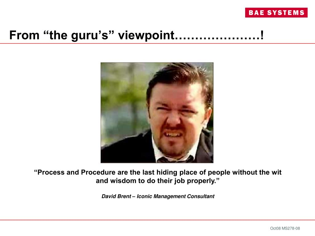 """From """"the guru's"""" viewpoint…………………!"""