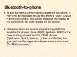 bluetooth to phone