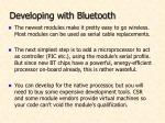 developing with bluetooth