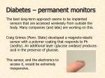 diabetes permanent monitors