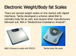 electronic weight body fat scales