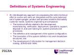 definitions of systems engineering