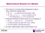 mathematical notation for models