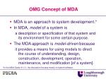 omg concept of mda