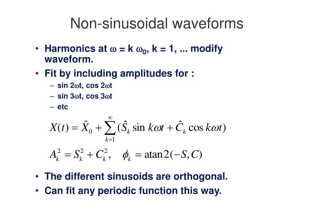 Non-sinusoidal waveforms
