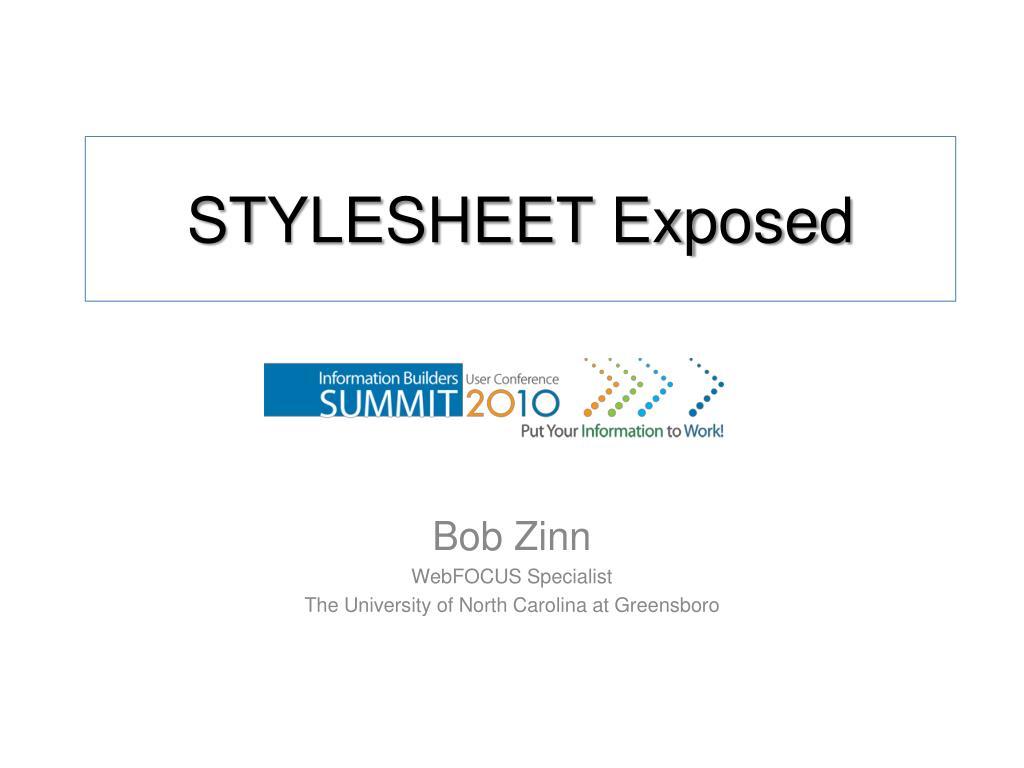 stylesheet exposed l.