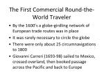 the first commercial round the world traveler