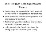 the first high tech superpower rivalry
