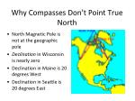 why compasses don t point true north