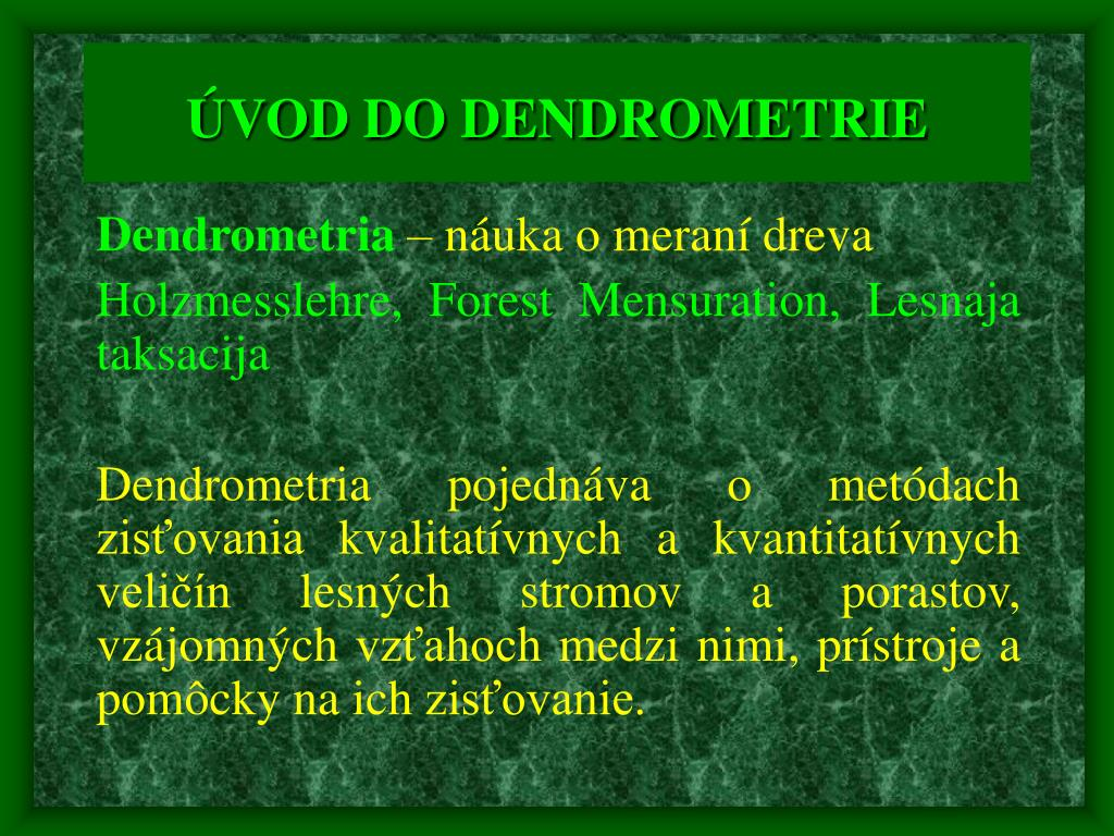 vod do dendrometrie l.
