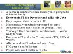 common 10 myths about it careers in india