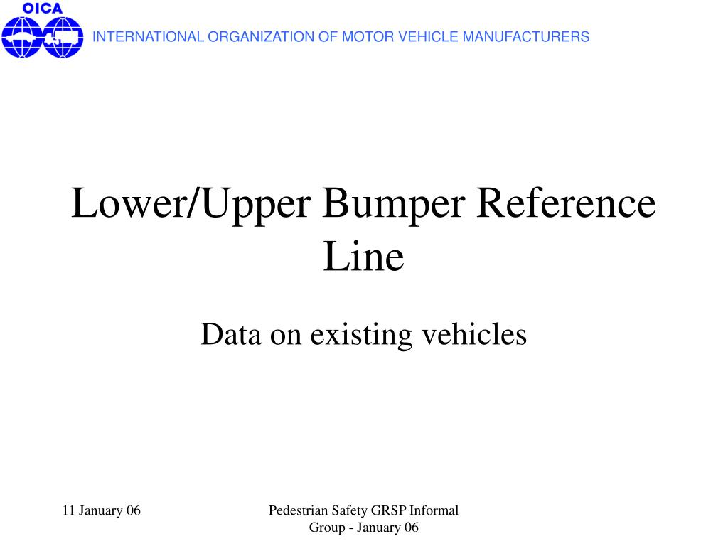 lower upper bumper reference line l.