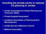 including the private sector in national cs planning in jordan