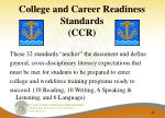 college and career readiness standards ccr