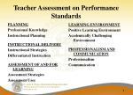 teacher assessment on performance standards