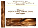 chapter 2 decision making systems models and support