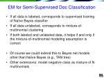 em for semi supervised doc classification