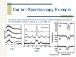 current spectroscopy example