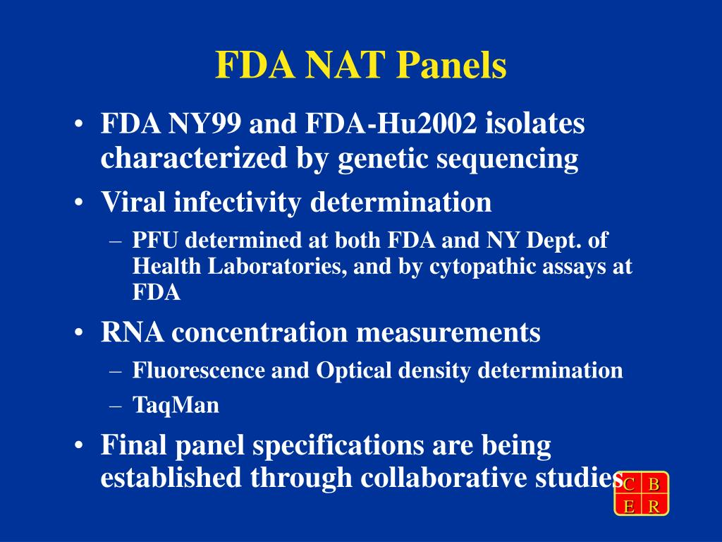 FDA NAT Panels