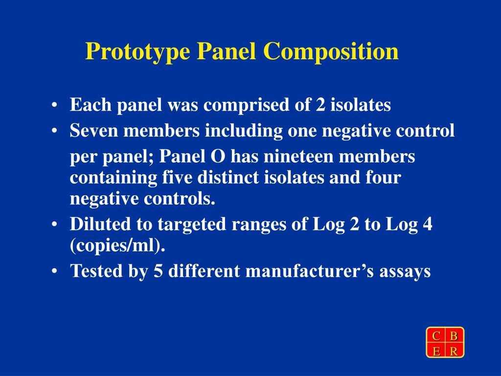 Prototype Panel Composition