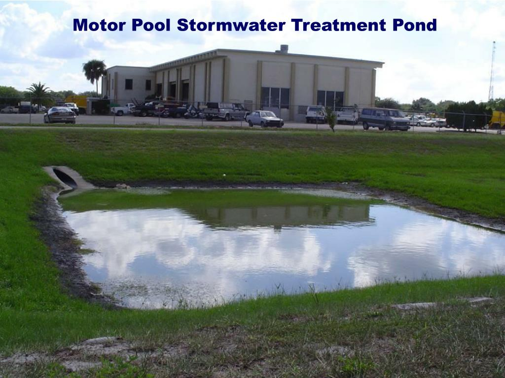 Motor Pool Stormwater Treatment Pond