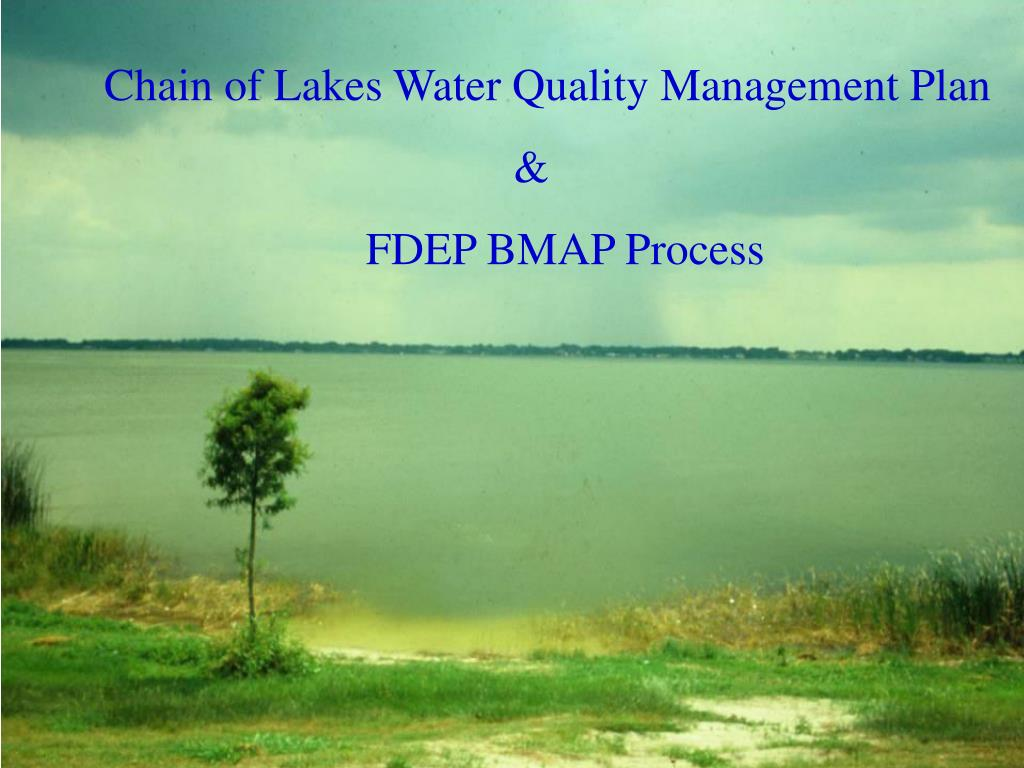 Chain of Lakes Water Quality Management Plan