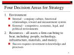 four decision areas for strategy31
