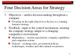 four decision areas for strategy32