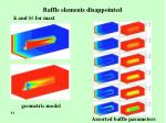 baffle elements disappointed