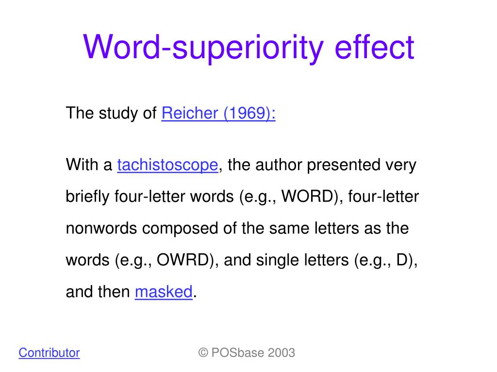 word superiority effect l.