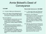 annie bidwell s deed of conveyance