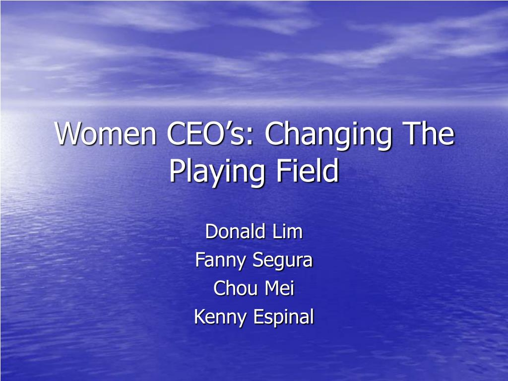 women ceo s changing the playing field l.